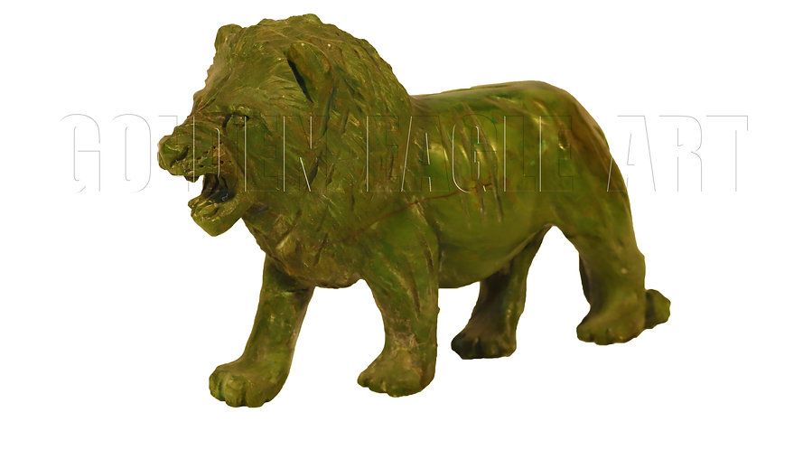 Carved varradite stone lion