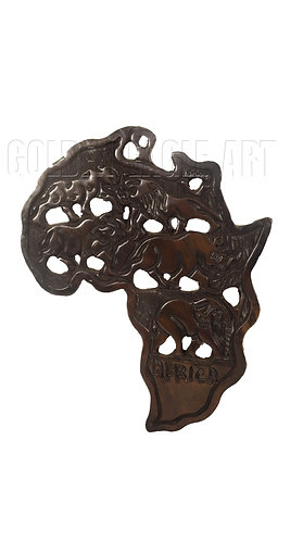 30cm high African big five wall plate