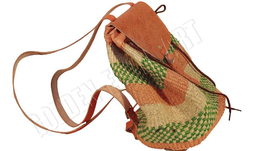 Sisal woven backpack