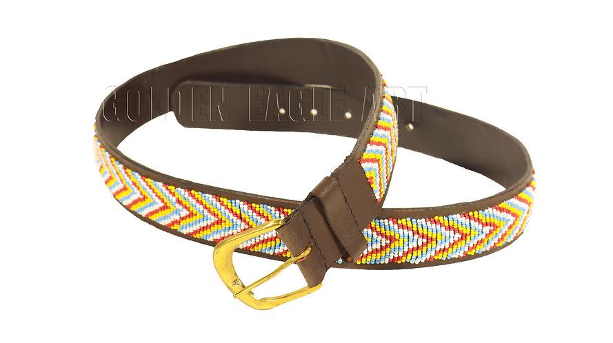 Maasai beaded leather belt