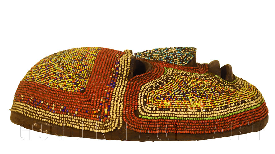 African beaded traditional mask