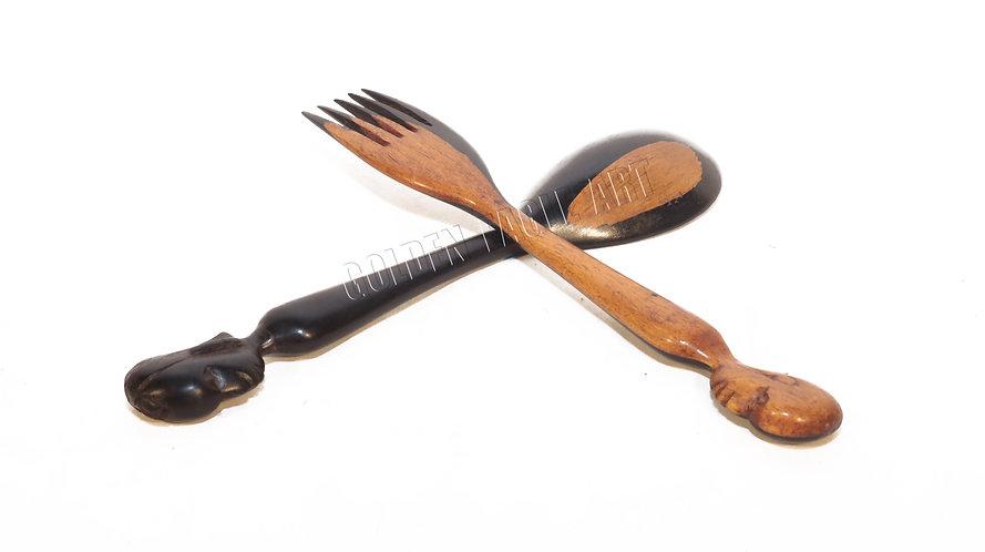 Ebony salad spoons