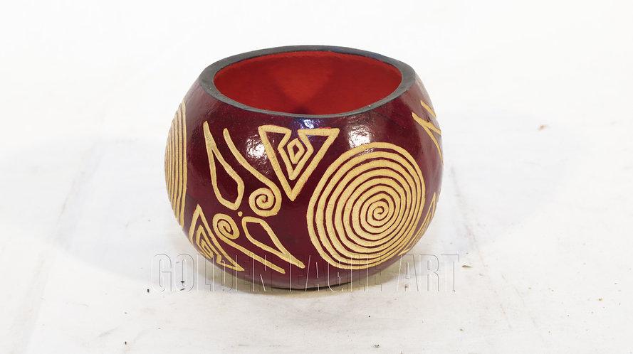 Engraved African calabash