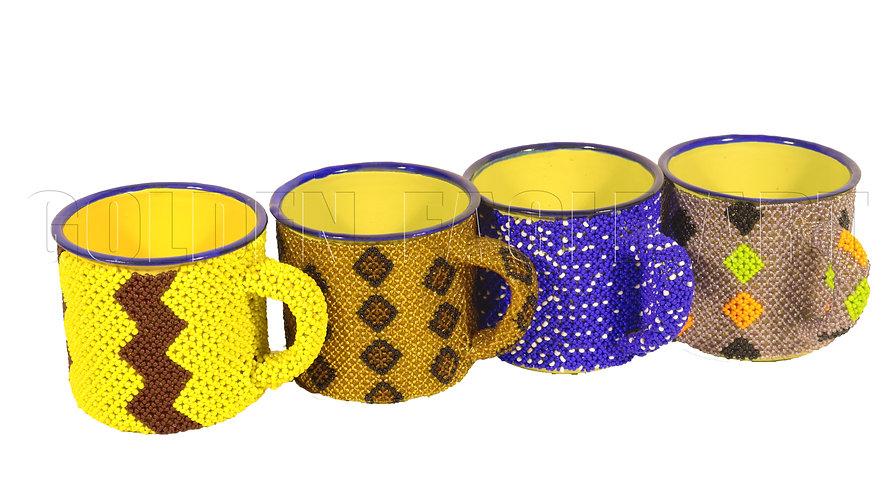 Beaded mugs