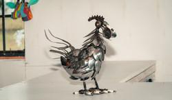 Recycled metal African bird