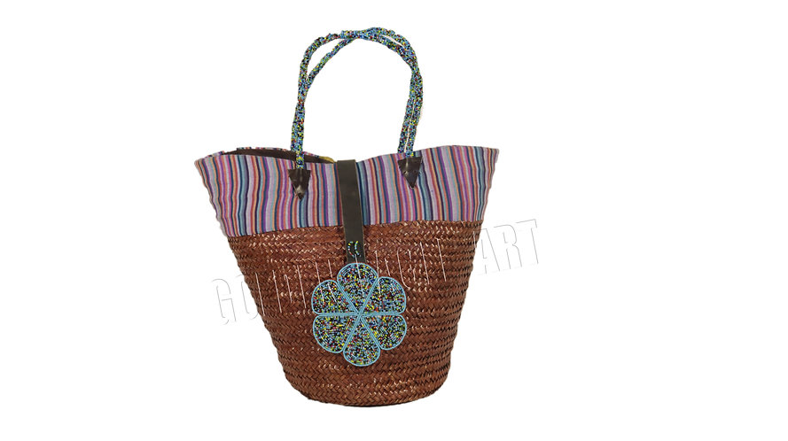 Kikoy bamboo shopping bag
