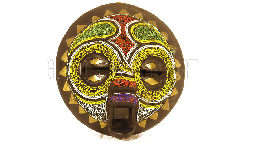 African traditional beaded mask