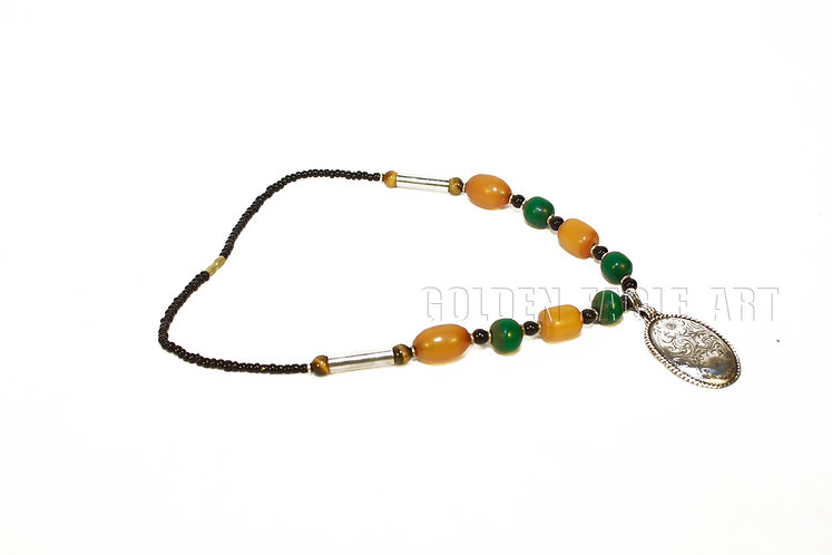 Amber pendant necklaces