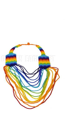 Rainbow maasai necklace