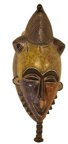 African cultural punu mask