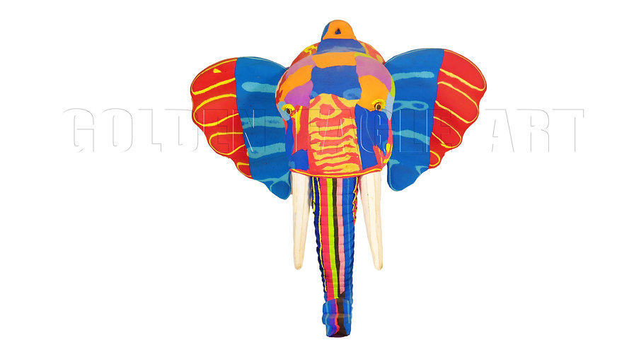 Recycled flip flop elephant face