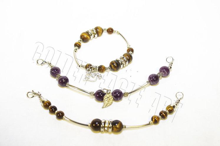 Tigereye stone bracelets