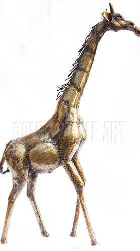 Recycled metal garden giraffe