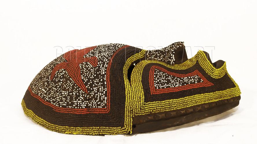 Traditional maasai beaded mask