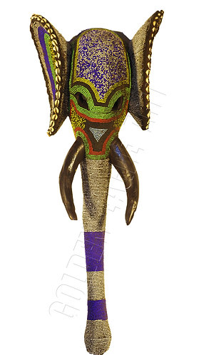 Elephant beaded antique mask