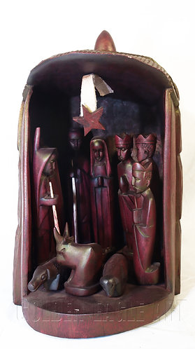 Soft wood nativity set