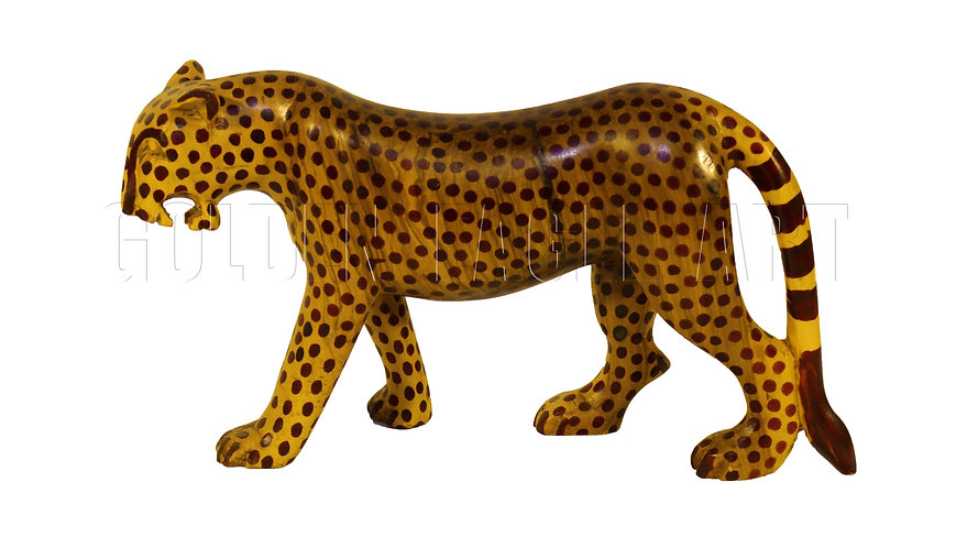 African olive wood cheetah