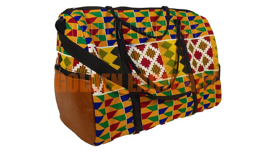 Kitenge fabric travelling bag