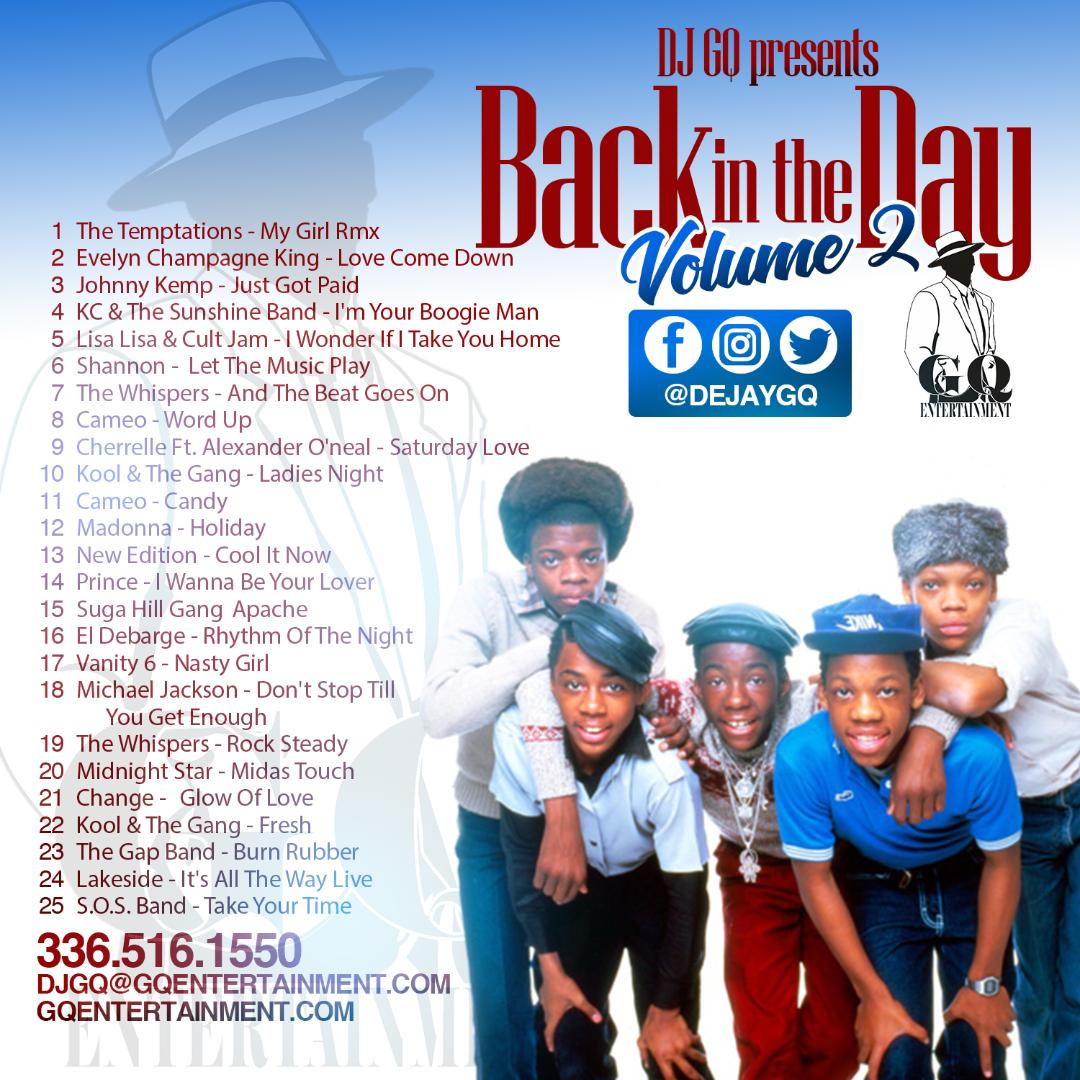 BACK IN THE DAY VOL#2 CD