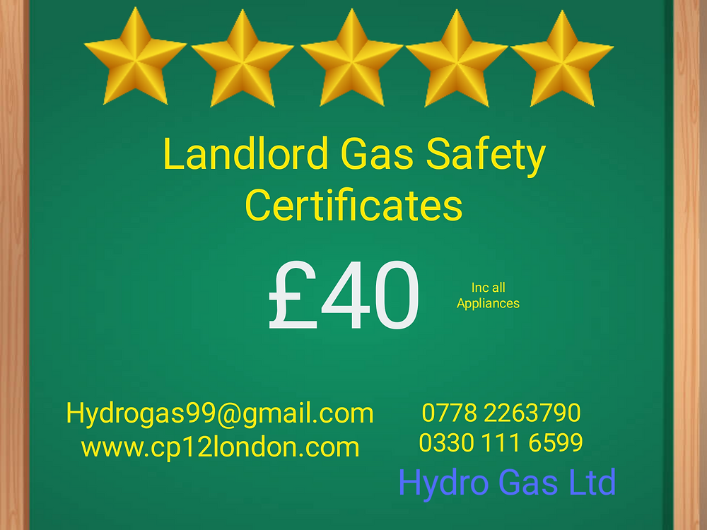 Landlord gas safety inspection Cheshunt, Ware, Hertford