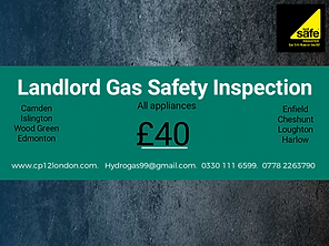 Enfield Landlord Gas Safety Inspections.