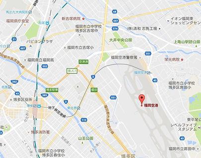 Fukuoka National Airport map