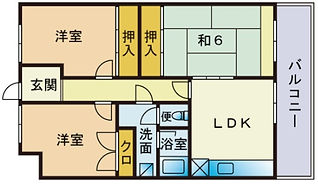 japanese layout , 3LDK , 3 living dinning kitchen