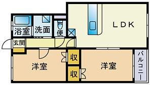 japanese layout , 2LDK , 2 living dinning kitchen