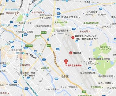 Fukuoka International Aiport Map