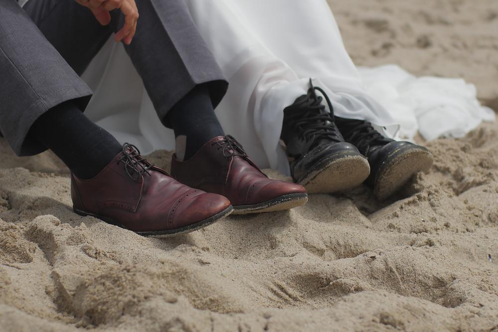 Bride wears Doc Martens