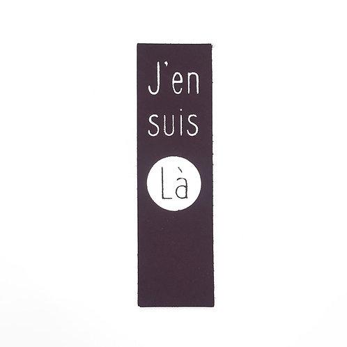 """MARQUE-PAGES """"J'en suis Là"""" AUBERGINE"""