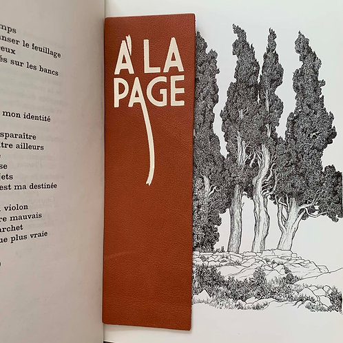 "MARQUE-PAGES ""A LA PAGE"" TERRACOTTA"
