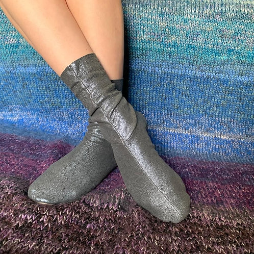 CHAUSSONS - GRIS METAL - 36/37