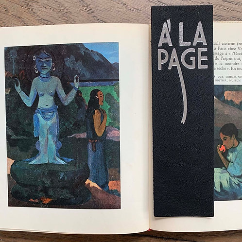 """MARQUE-PAGES """"A LA PAGE"""" NOIR"""