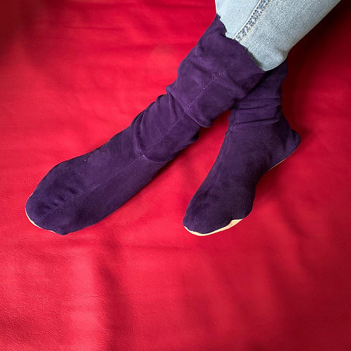 CHAUSSONS - VIOLET VELOURS - 36/37