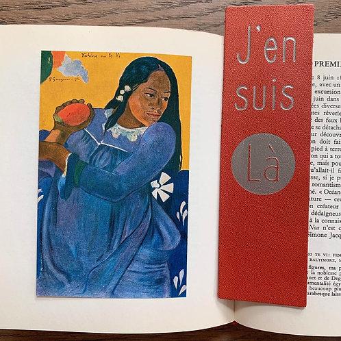 """MARQUE-PAGES """"J'en suis Là"""" ORANGE"""