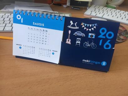 kalendoriai, stalo kalendoriai