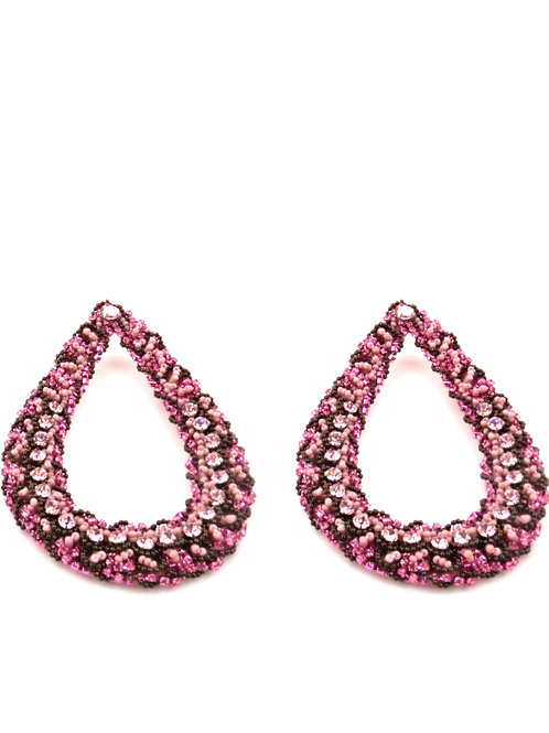 THE DIVA STATEMENT EARRINGS VINTAGE PINK