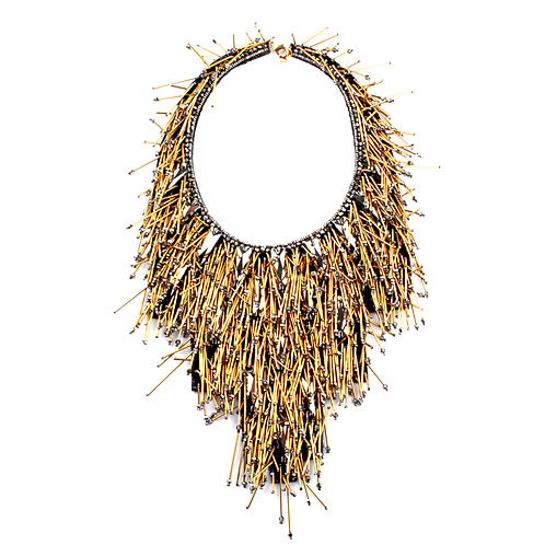RIVIERA STATEMENT NECKPIECE ANTIQUE GOLD