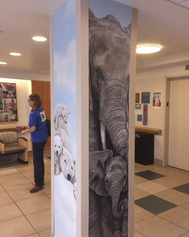 Pediatric Lobby - column