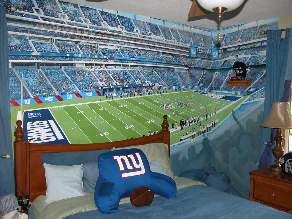 Met Life stadium (Giants mural)