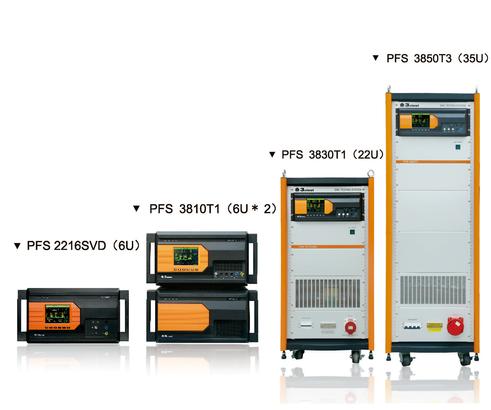 Имитаторы серии PFS задают параметры провалов, прерываний и изменений напряжения 1ф/3ф сети питания