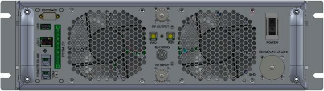 Задняя панель радиочастотного усилителя SKU2194
