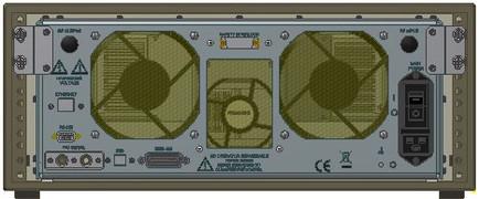 Усилитель мощности 175A400 Amplifier Research Передняя панель Вид сзади