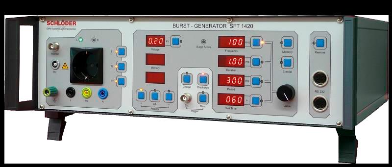 SFT 1400 имитатор быстрых переходных импульсов помех в соответствии с IEC/EN 61000-4-4