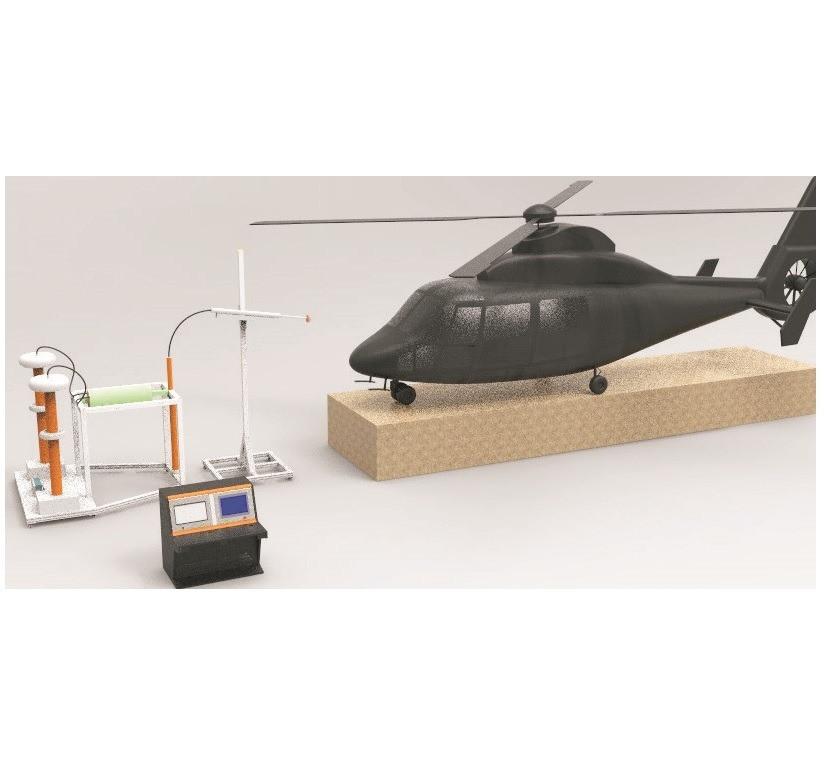 Испытательный генератор электростатических разрядов для летательных аппаратов или систем вооружения