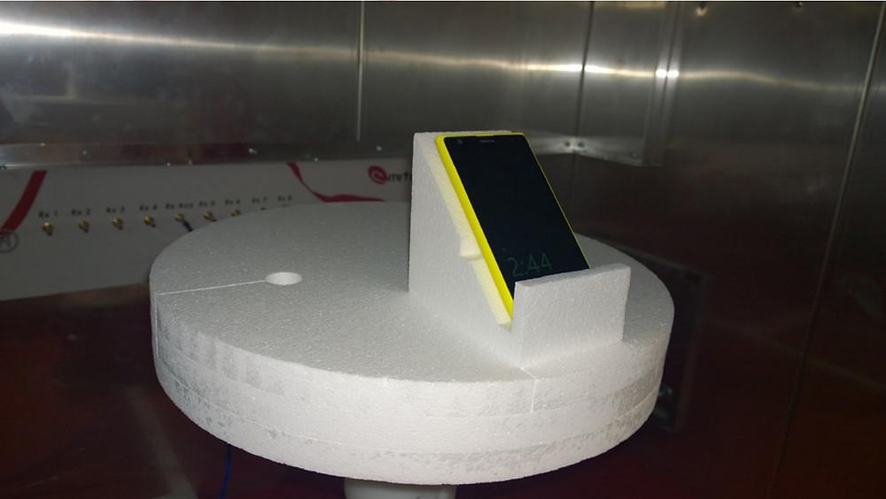 Испытания сотового телефона 4G 5G в реверберационной камере