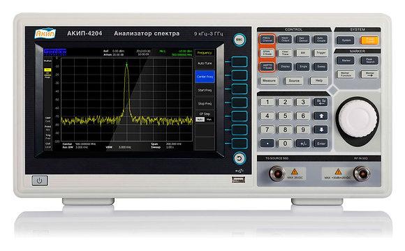 Анализатор спектра 3ГГц с трэкинг генератором АКИП 4204/TG