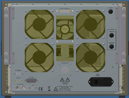600A400 Усилитель 10кГц-400МГц Задняя панель