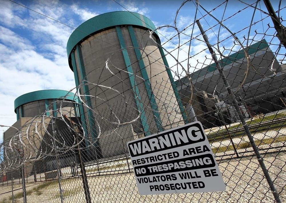 электромагнитная обстановка на атомной станции Сион США
